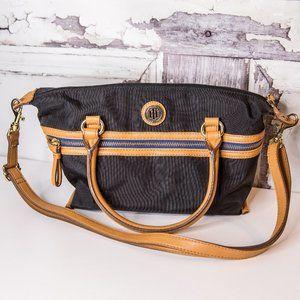 Tommy Hilfiger Black & Tan Shoulder Bag Purse